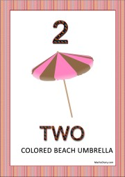 1 beach umbrella with two colors