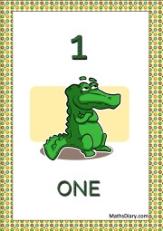 1 crocodile