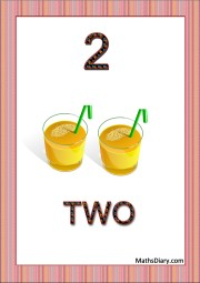 2 glasses of juice