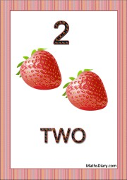 2 strawberries