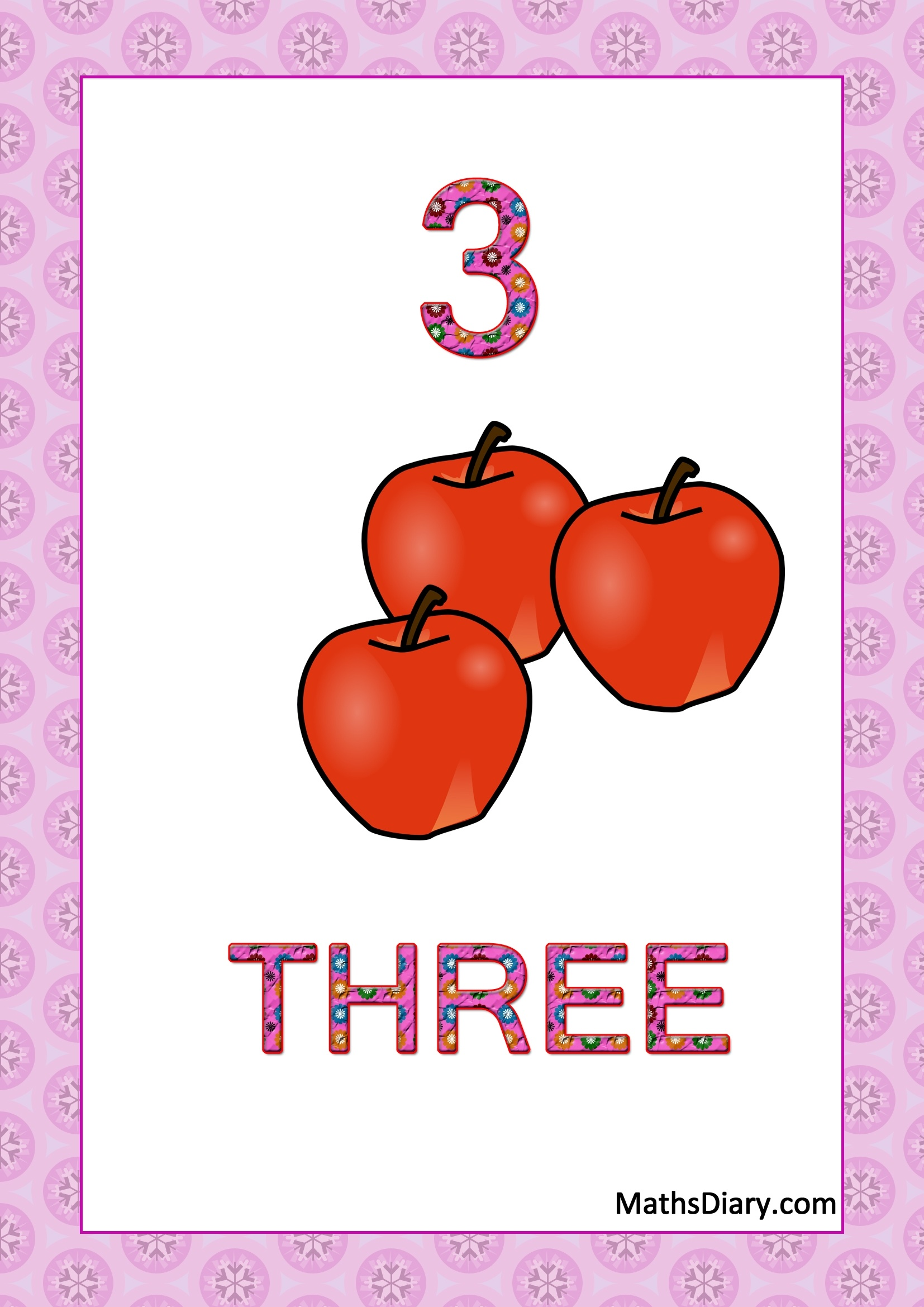 Learning counting and recognition of number 3 worksheets Level 1 – Number 3 Worksheets