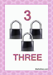 3 black locks