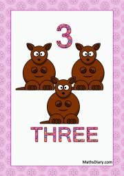 3 kangaroos