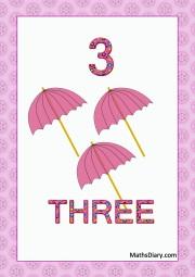 3 pink umbrellas