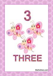 3 smiling butterflies