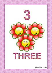 3 smiling flowers
