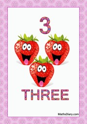 3 smiling strawberries
