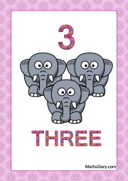 3 tiny elephants