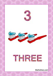3 toothbrushes