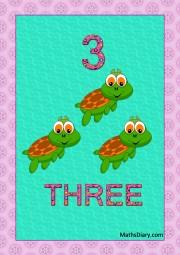 3 turtles