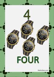 4 black wrist watches