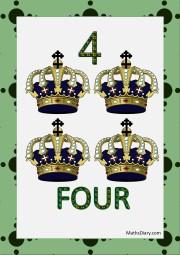 4 blue crowns