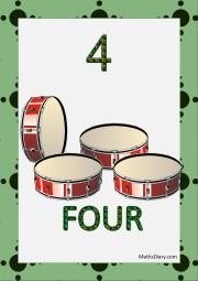 4 drums