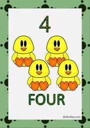 4 ducklings