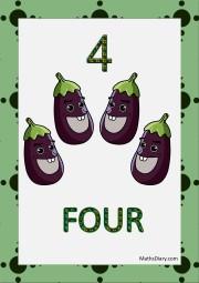 4 eggplants