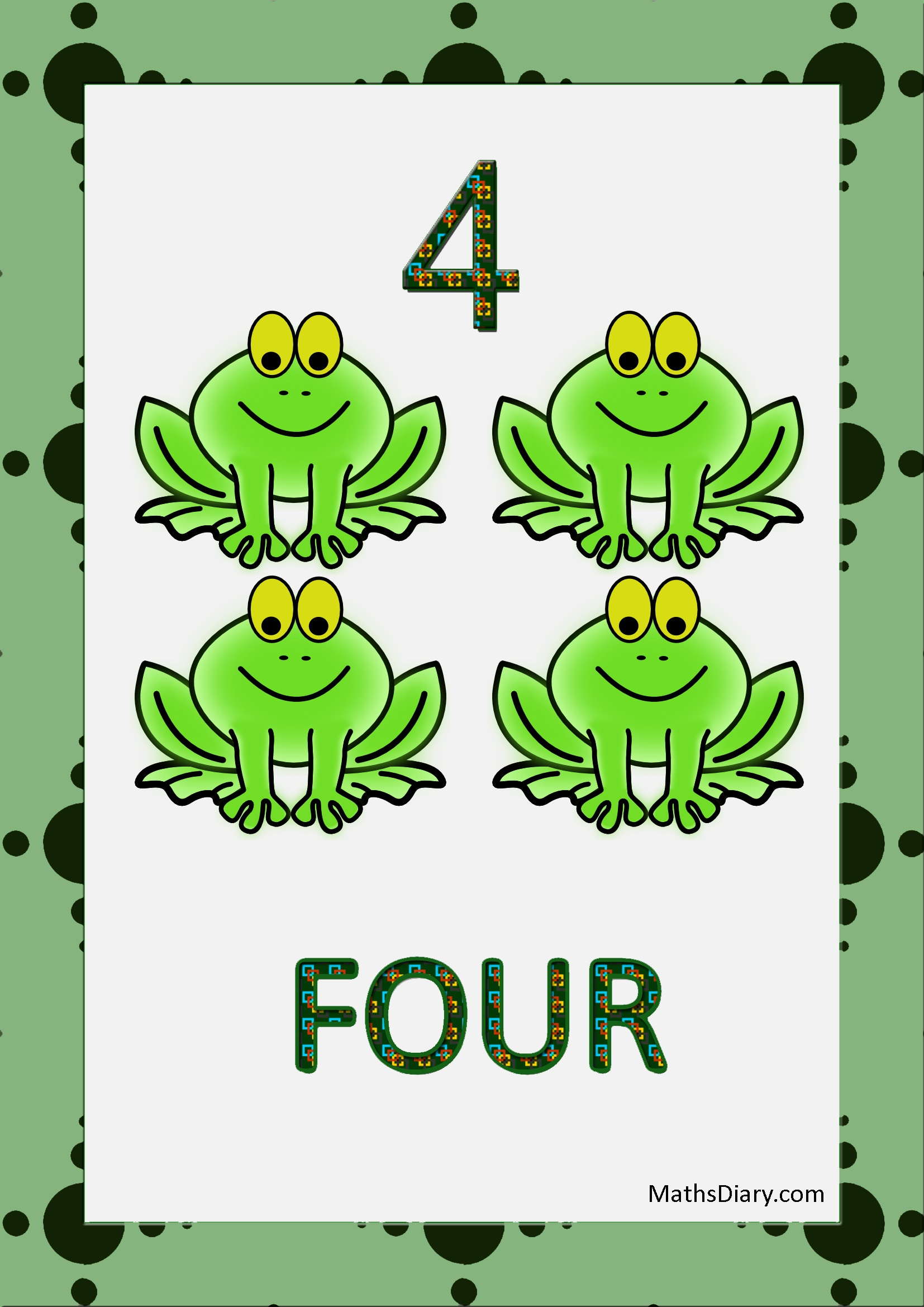 Learning Counting And Recognition Of Number 4  U2013 Worksheets