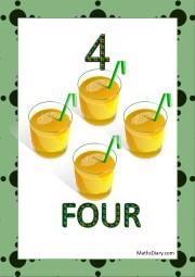 4 glasses of juice