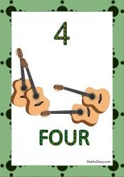 4 guitars