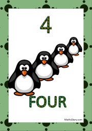 4 penguins