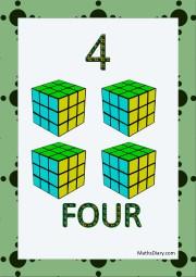 4 rubik cubes