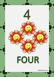 4 smiling flowers