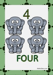 4 tiny elephants
