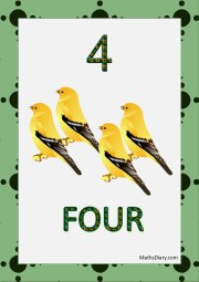 4 yellow sparrows