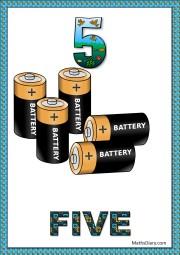 5 batteries