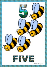 5 bees