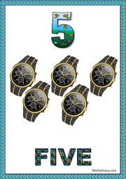 5 black wrist watches