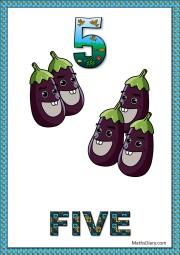 5 eggplants