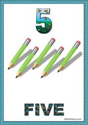 5 green pencils