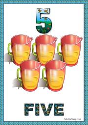 5 jugs with juice