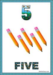 5 pencils