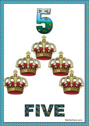 5 red crowns