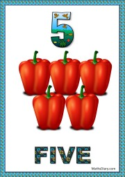 5 red peppers