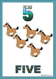 5 running horses