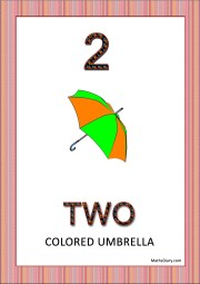 an umbrella with two colors