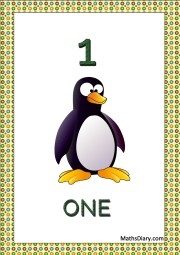 one penguin