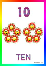 10 smiley flowers
