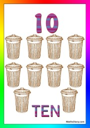 10 trash bins