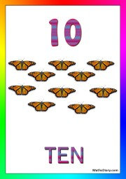 10 yellow butterflies