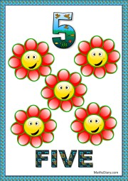 5 smiling flowers
