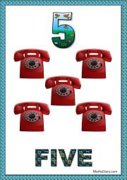 5 telephones