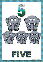 5 tiny elephants