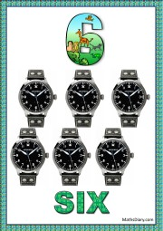 6 black watches