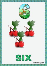 6 cherries with leaves