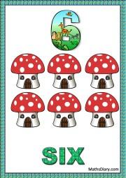 6 mushroom houses