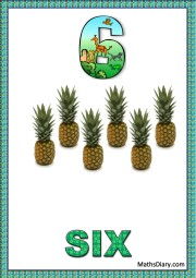6 pineapples