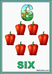 6 red peppers
